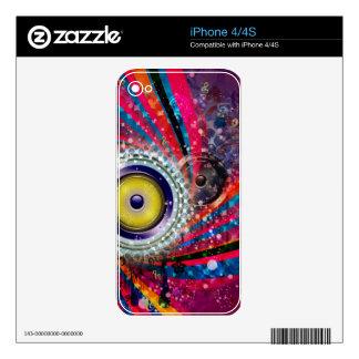 Grunge Loud Speakers iPhone 4 Skin