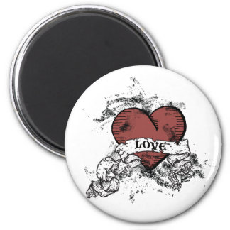 Grunge Love Heart Magnet
