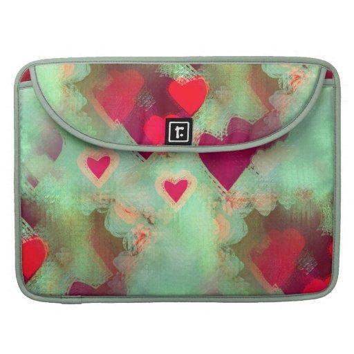 Grunge Love Hearts Macbook Pro Sleeve