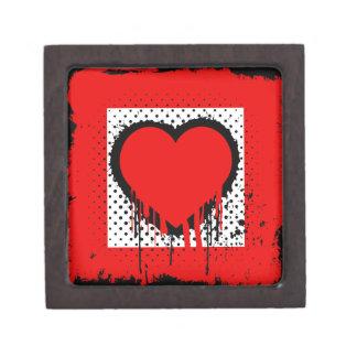 Grunge love keepsake box
