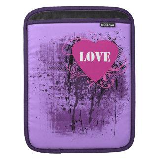 Grunge Love Paint Heart Rickshaw iPad Sleeve