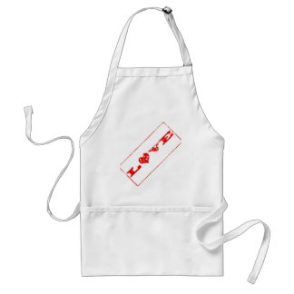 Grunge Love Rubber Stamp Apron