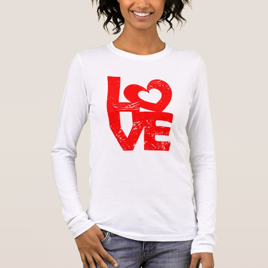 Grunge love with heart long sleeve T-Shirt - Best Selling Long-Sleeve Street Fashion Shirt Designs