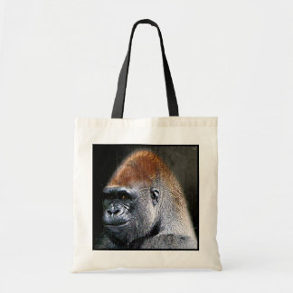Grunge Lowland Gorilla Close-up Face Tote Bag