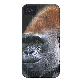 Grunge Lowland Gorilla Close-up Face iPhone 4 Cases