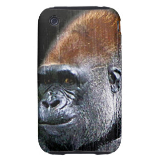 Grunge Lowland Gorilla Close-up Face iPhone 3 Tough Covers