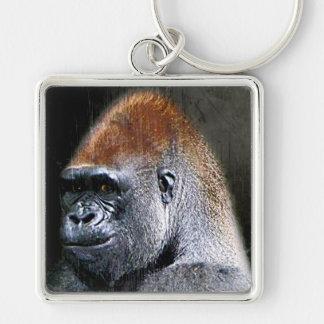 Grunge Lowland Gorilla Close-up Face Key Chains