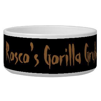 Grunge Lowland Gorilla Close-up Face Dog Food Bowl