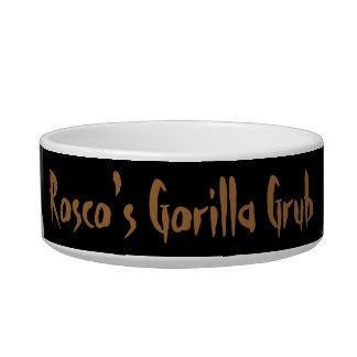 Grunge Lowland Gorilla Close-up Face Pet Bowl