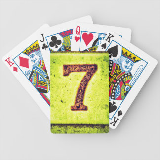 Grunge Lucky Number Seven Bicycle Playing Cards