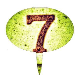 Grunge Lucky Number Seven Cake Topper