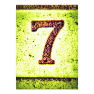 Grunge Lucky Number Seven Card