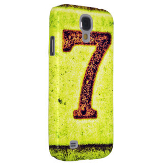 Grunge Lucky Number Seven Galaxy S4 Case