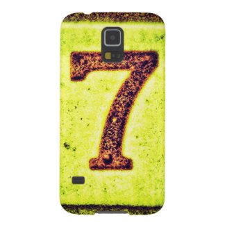 Grunge Lucky Number Seven Galaxy S5 Case