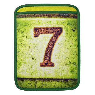 Grunge Lucky Number Seven iPad Sleeve