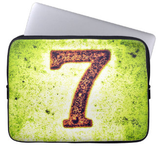 Grunge Lucky Number Seven Laptop Sleeve