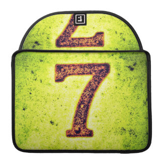 Grunge Lucky Number Seven MacBook Pro Sleeve