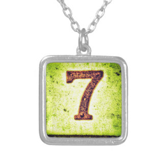 Grunge Lucky Number Seven Silver Plated Necklace
