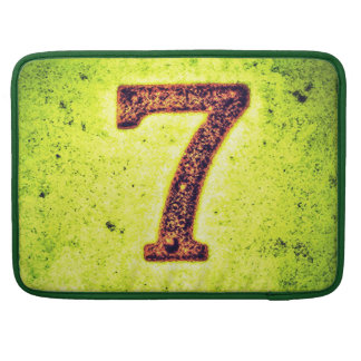 Grunge Lucky Number Seven Sleeve For MacBooks