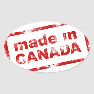 Grunge Made In Canada - White Oval Sticker