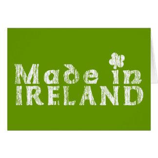 Grunge Made In Ireland Greeting Cards