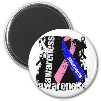 Grunge Male Breast Cancer Awareness Magnets