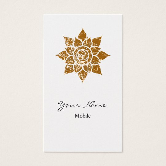 Grunge Mandala Business Card