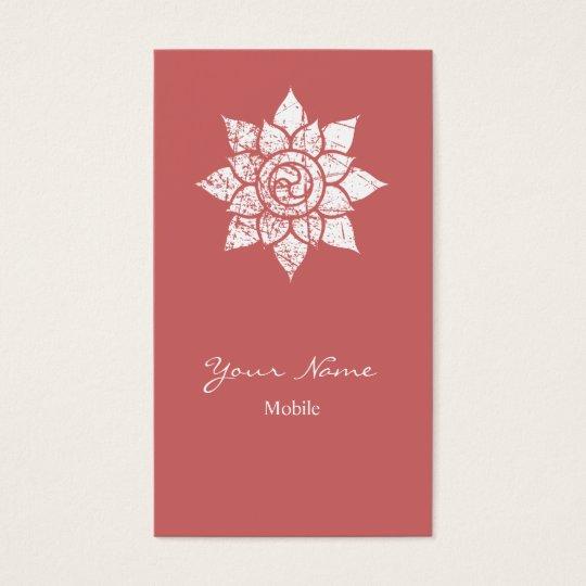 Grunge Mandala Business Card