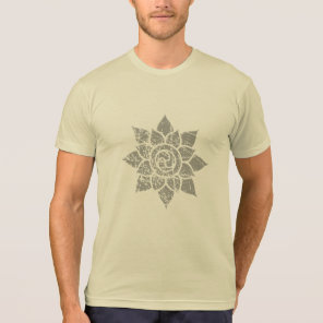 Grunge Mandalas Gray T-Shirt