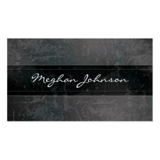 Grunge Marble Black Trendy Business Card