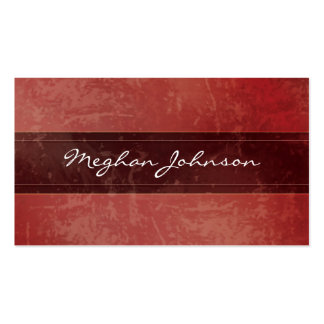 Grunge Marble Red Trendy Business Card
