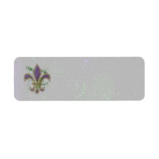 Grunge Mardi Gras Custom Return Address Label