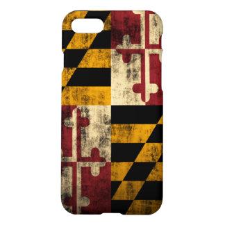 Grunge Maryland Flag iPhone 7 Case
