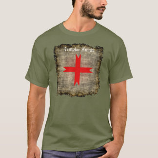 Grunge Medieval Cross of the Knights Templar T-Shirt
