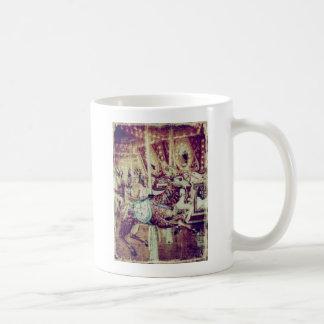 Grunge Merry-Go-Round Goat Coffee Mug