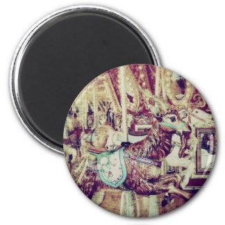Grunge Merry-Go-Round Goat Magnet