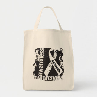 Grunge Mesothelioma Cancer Awareness Bags
