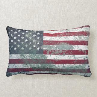 Grunge Metal American Flag 2 Pillows