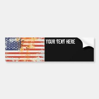Grunge Metal American Flag 3 Bumper Sticker