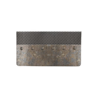 Grunge metal background checkbook cover