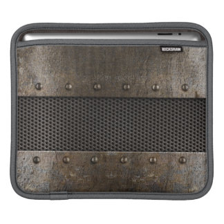 Grunge metal background iPad sleeve