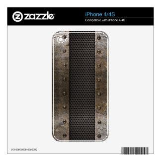 Grunge metal background iPhone 4 skins