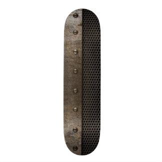 Grunge metal background skateboard