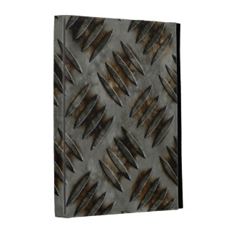 Grunge Metal Diamond Plate Pattern iPad Case