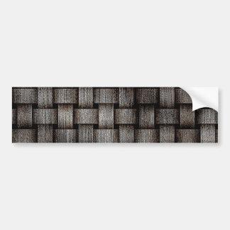 Grunge Metal Stripes Bumper Sticker