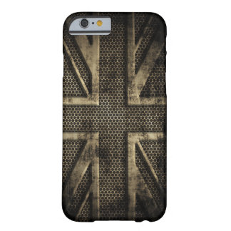 Grunge Metal Union Jack Barely There iPhone 6 Case