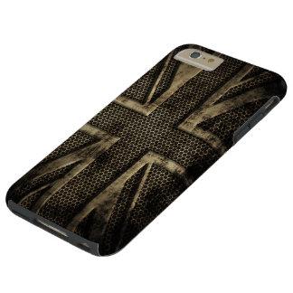 Grunge Metal Union Jack Tough iPhone 6 Plus Case