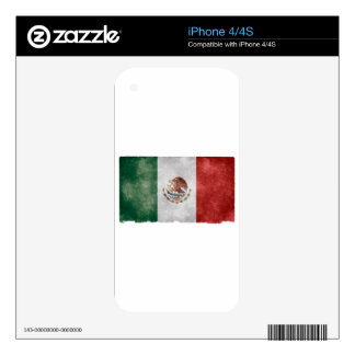 Grunge Mexican Flag Skins For iPhone 4