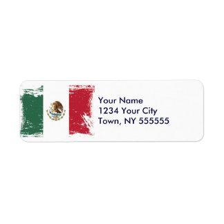 Grunge Mexico Flag Label