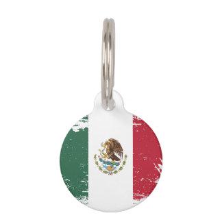 Grunge Mexico Flag Pet Tag